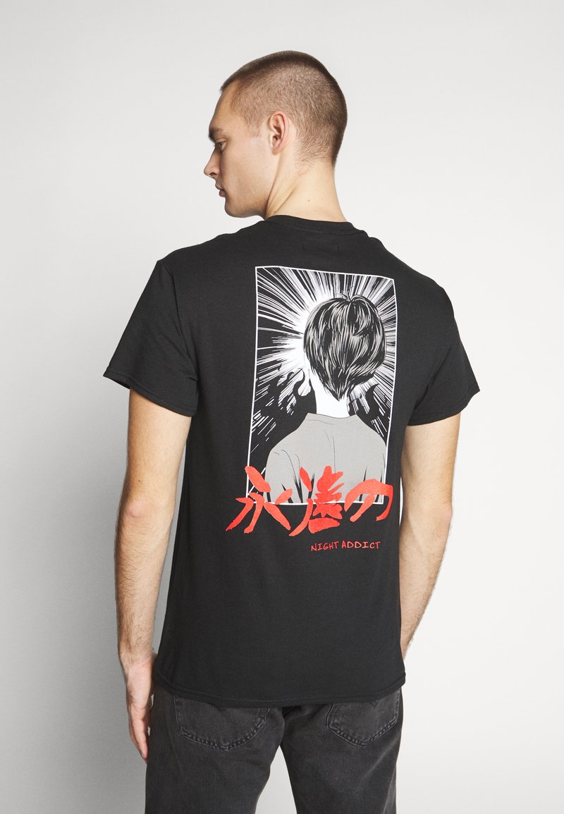 Night Addict - ETERNAL - T-shirt imprimé - black