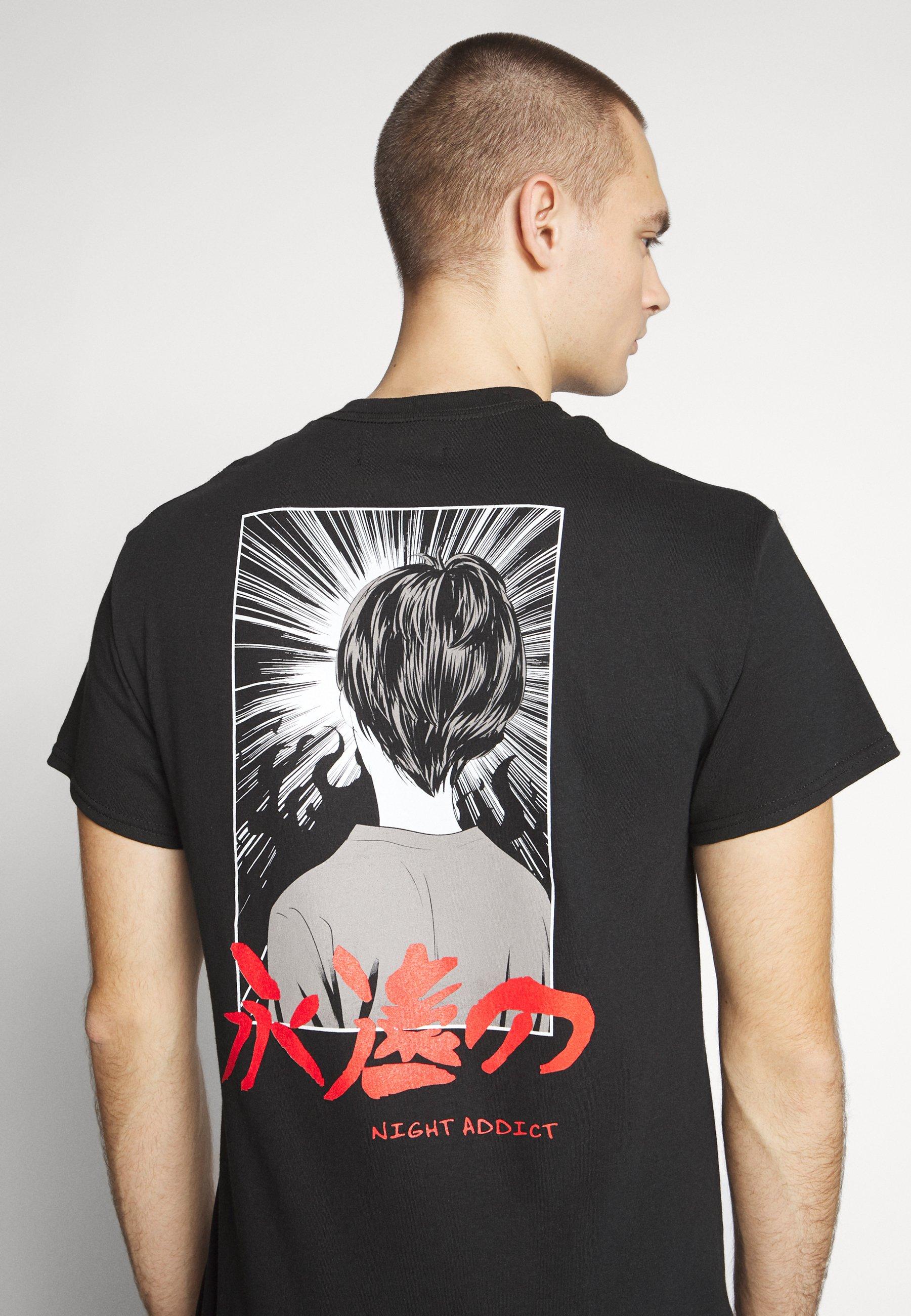 Night Addict ETERNAL - T-shirt z nadrukiem - black