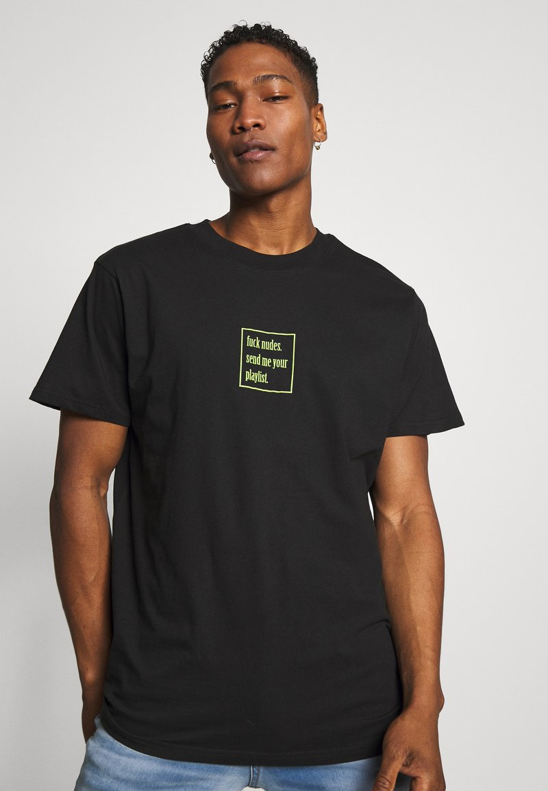 Night Addict - PLAYLIST - Print T-shirt - black