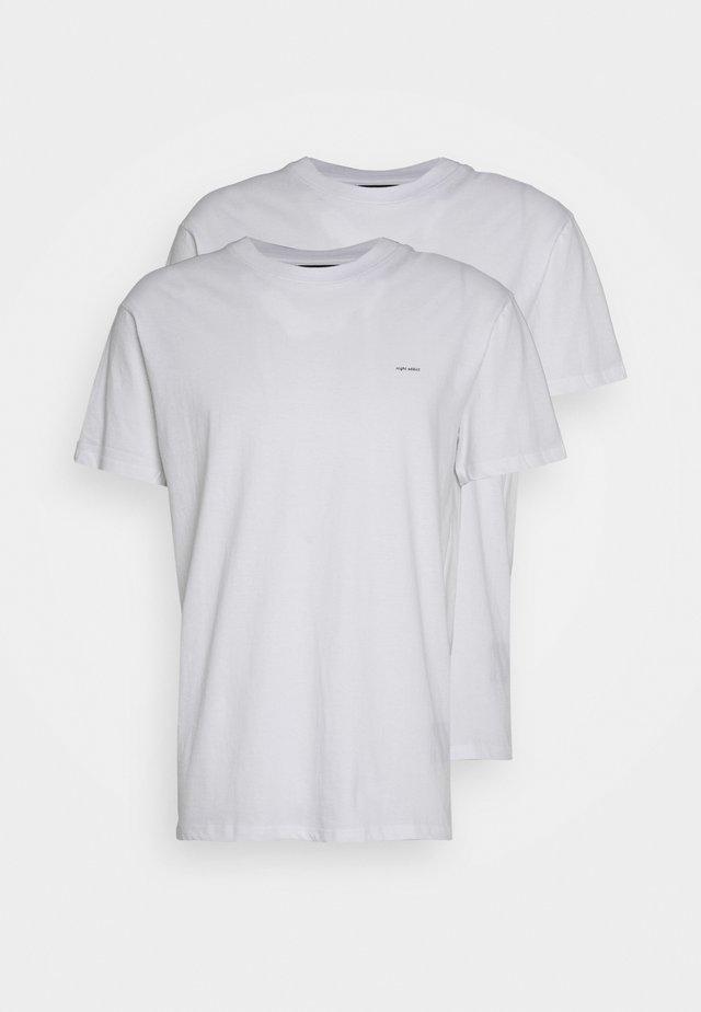2 PACK - T-shirt basic - white with black print