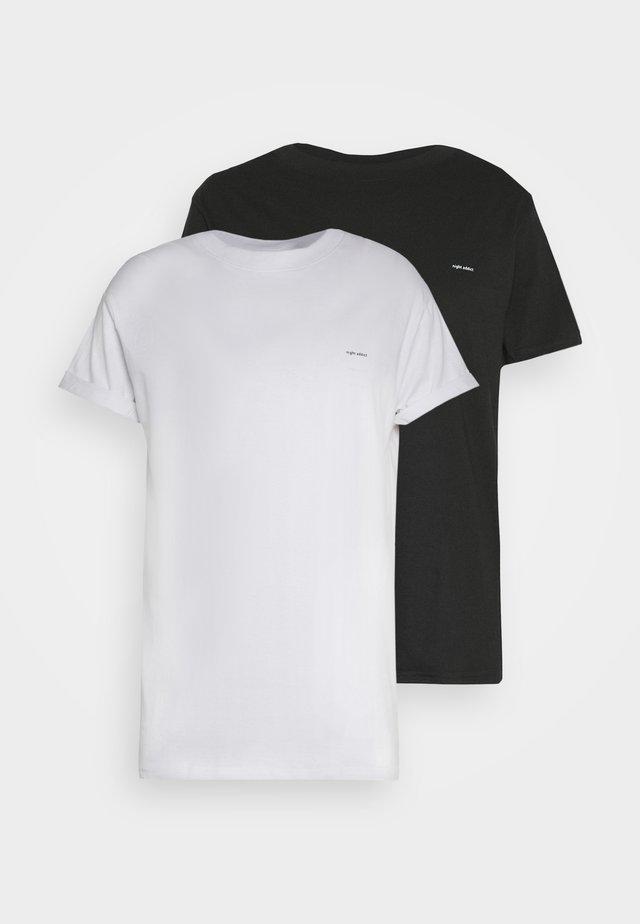 2 PACK - T-shirt basique - black/white