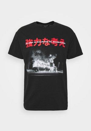 BURNINGIDEA - T-shirt con stampa - black