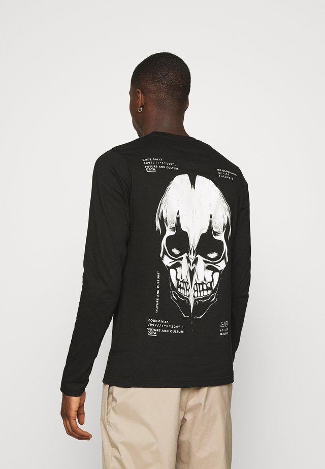 SKULL - Top sdlouhým rukávem - black