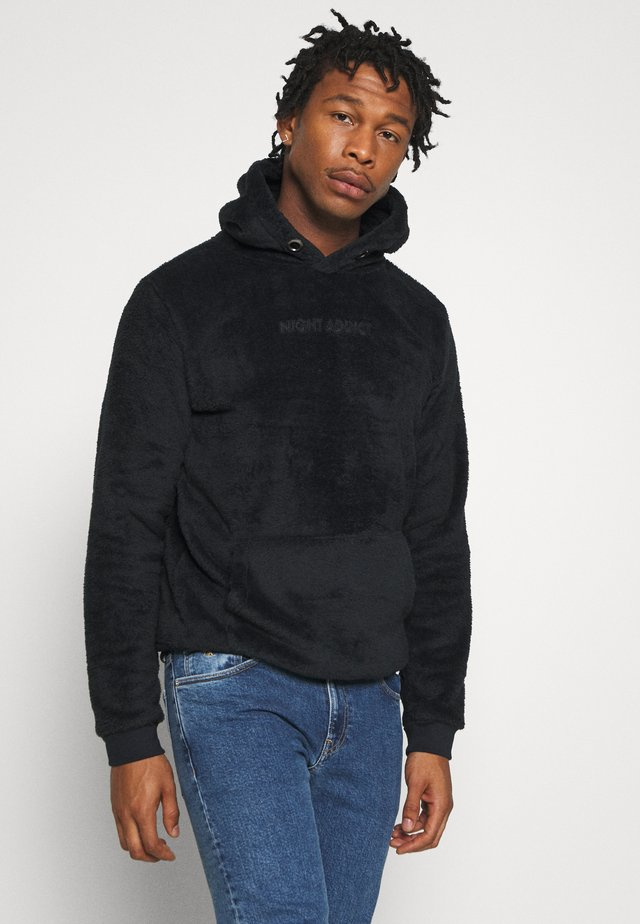 WALLACE - Sweat à capuche - black