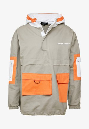 NIGEL - Summer jacket - slate/orange