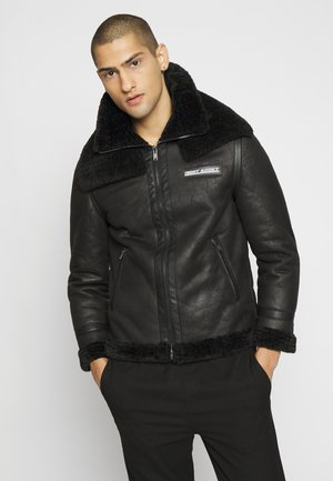 NANIMAI - Faux leather jacket - black