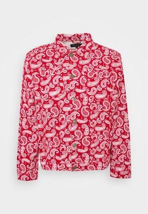 NASULLY - Denim jacket - red denim