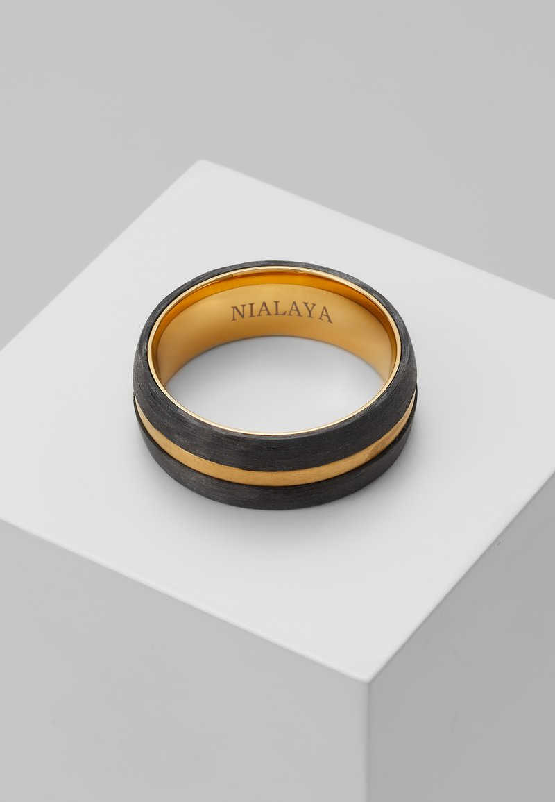 Nialaya - Ring - black/gold-coloured