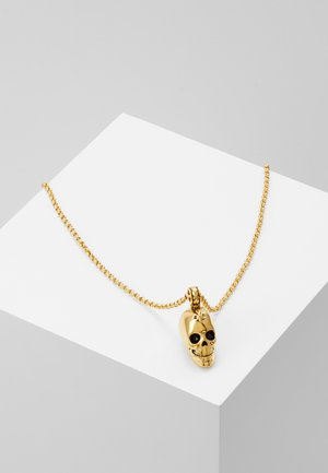 CHAIN WITH SKULL PENDANT - Naszyjnik - gold-coloured