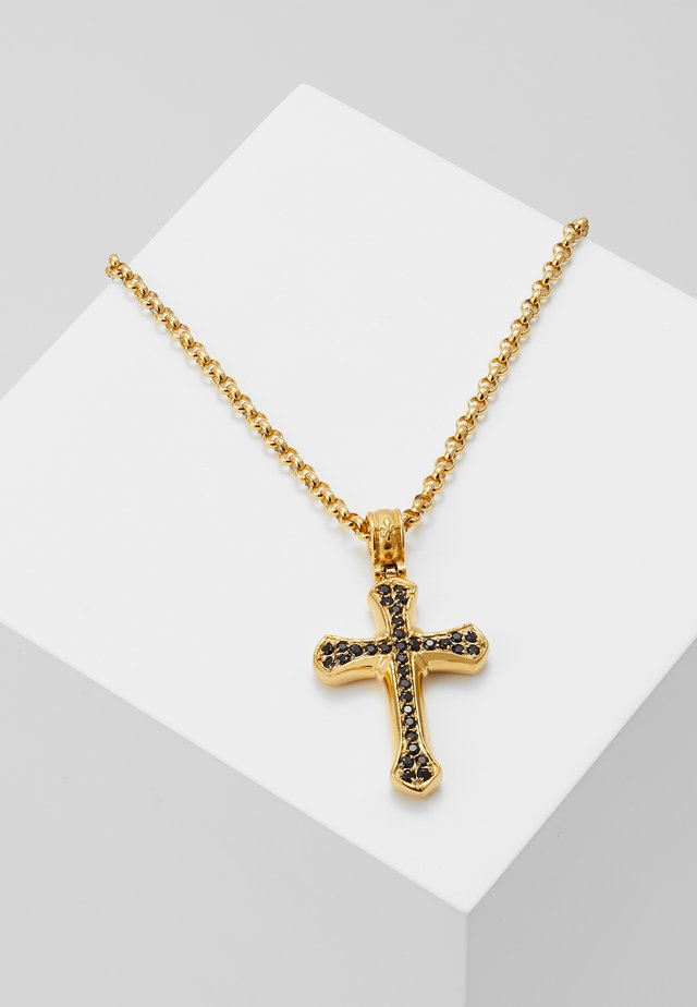 CHAIN WITH CROSS PENDANT - Necklace - gold-coloured