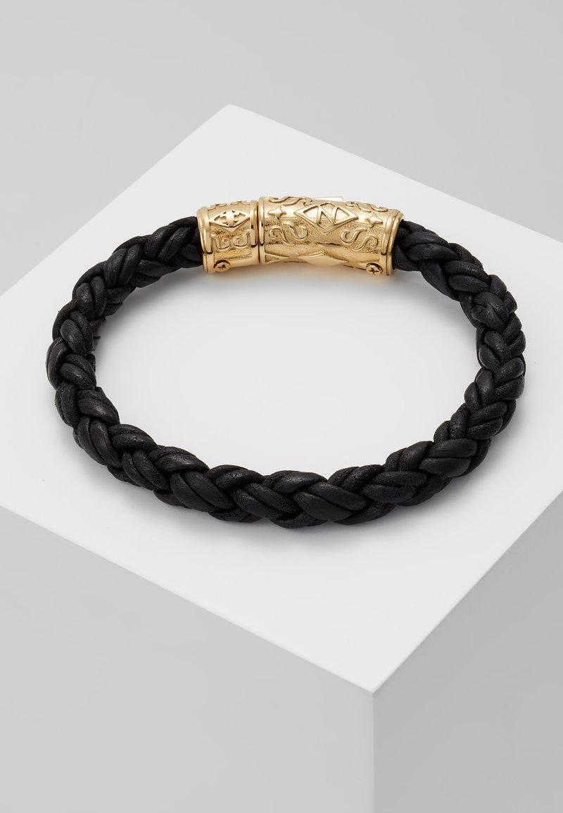 Nialaya - BRAIDED LOCK IN  - Bracelet - black