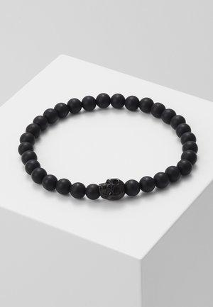 SKULL BEAD BRACELET - Armbånd - black