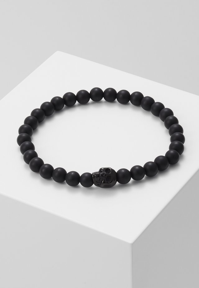 SKULL BEAD BRACELET - Armband - black