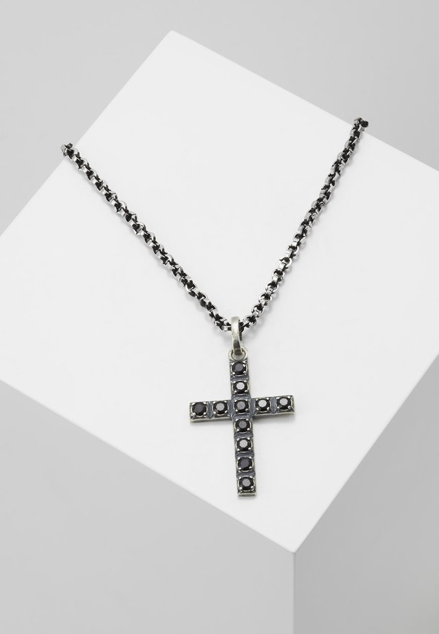 PENDANT CROSS - Halsband - silver-coloured