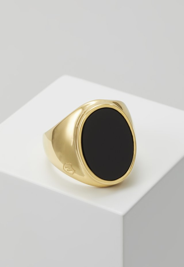 ROUND - Ring - gold-coloured/black