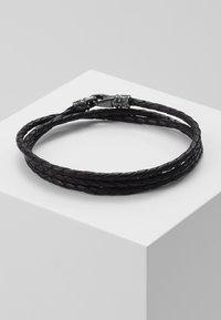Nialaya - BRAIDED BRACELET - Rannekoru - black/gunmetal - 1