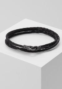 Nialaya - BRAIDED BRACELET - Rannekoru - black/gunmetal - 0