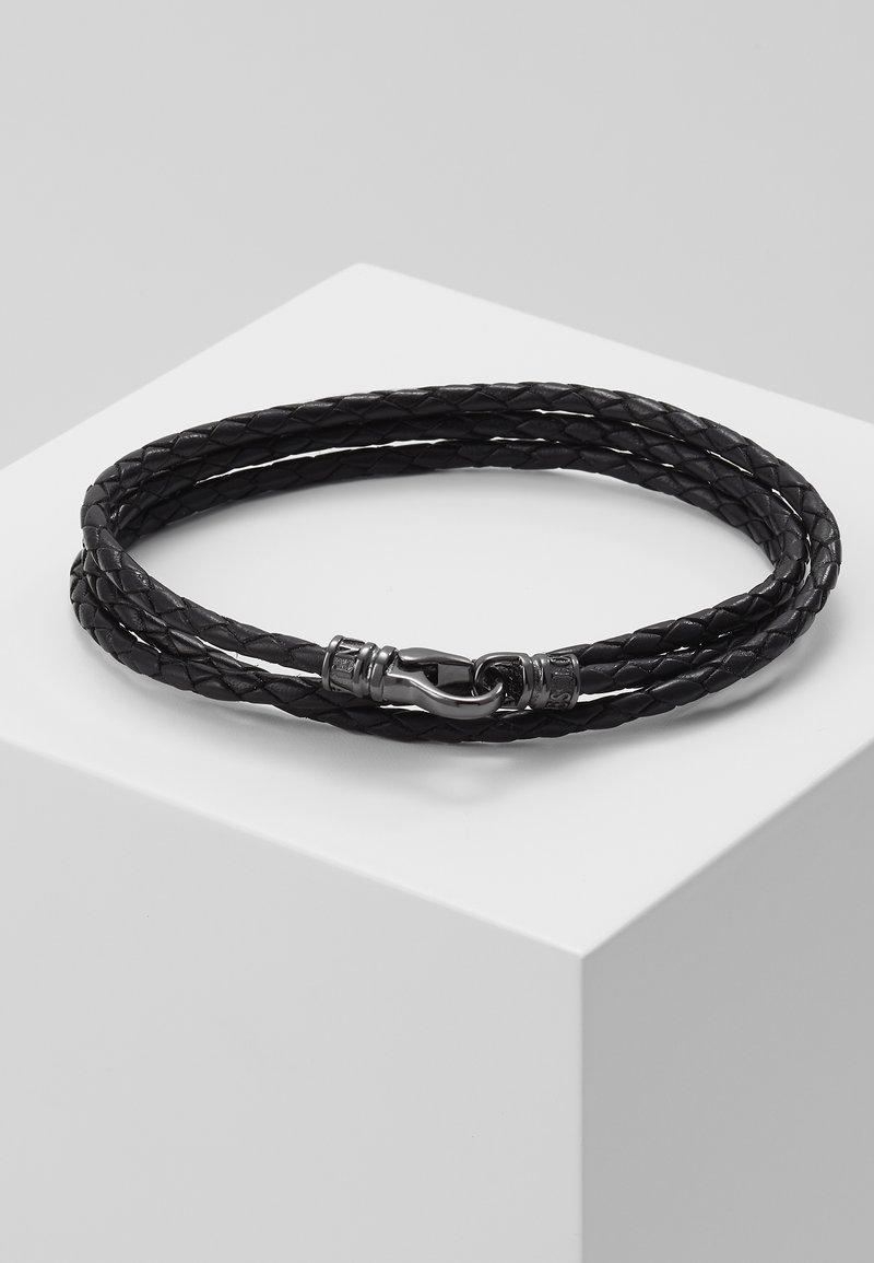 Nialaya - BRAIDED BRACELET - Rannekoru - black/gunmetal