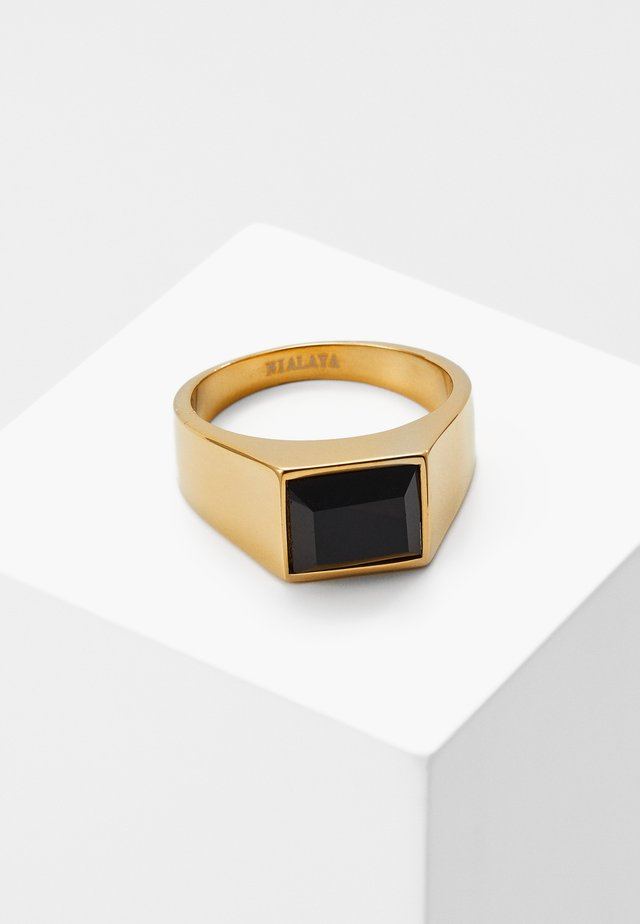 Ring - gold-coloured/black