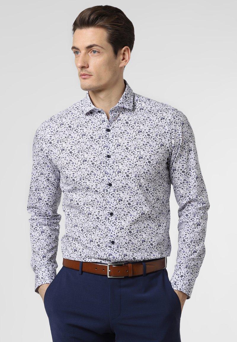 Nils Sundström - Shirt - white/blue