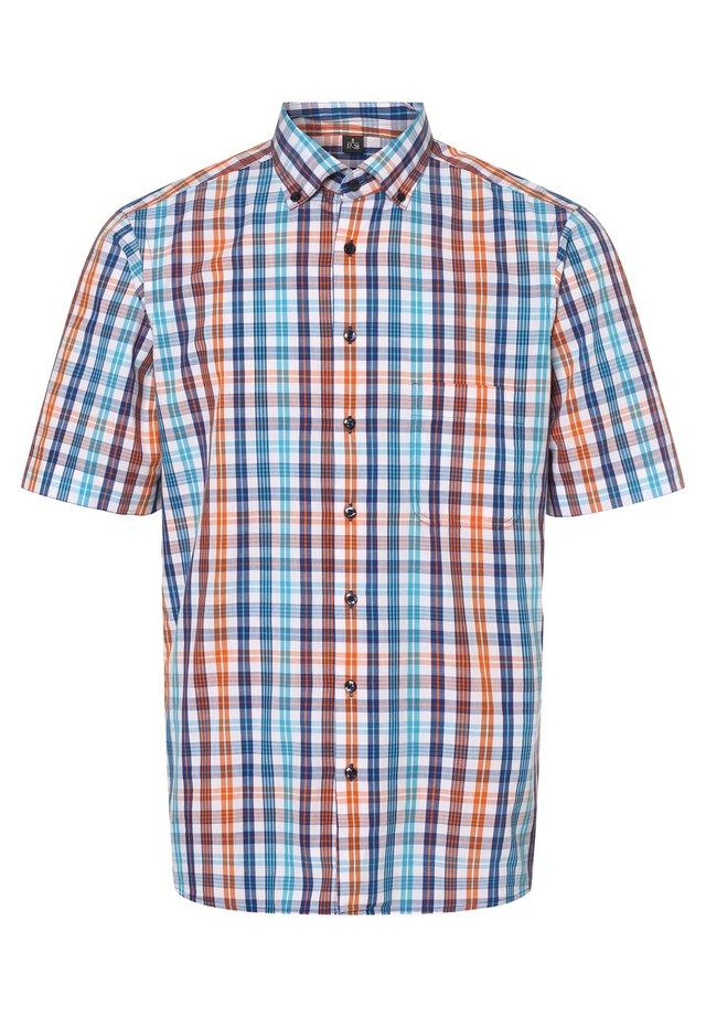 Shirt - orange aqua