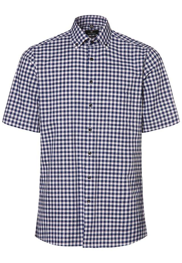 Shirt - marine/weiß