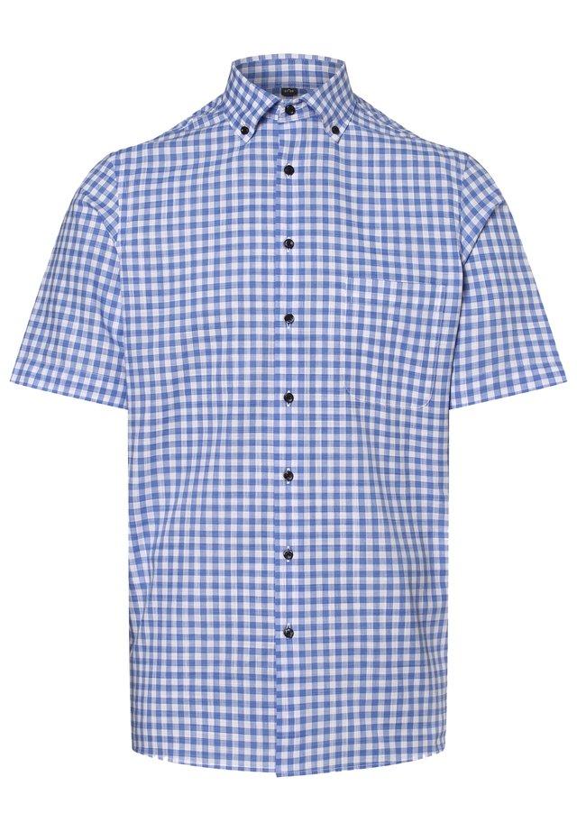 Shirt - hellblau/weiß