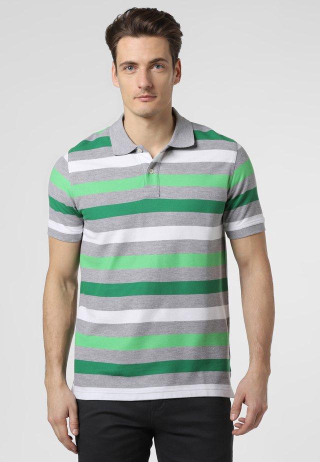 Polo shirt - green/grey