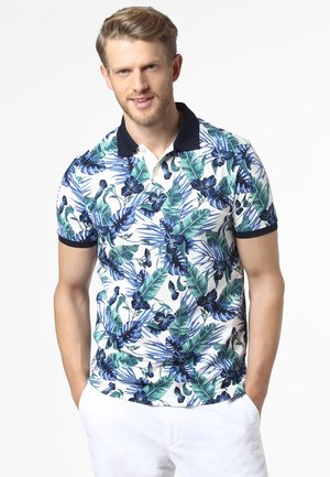 Polo shirt - white/green