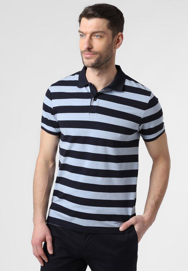 Polo shirt - navy light blue