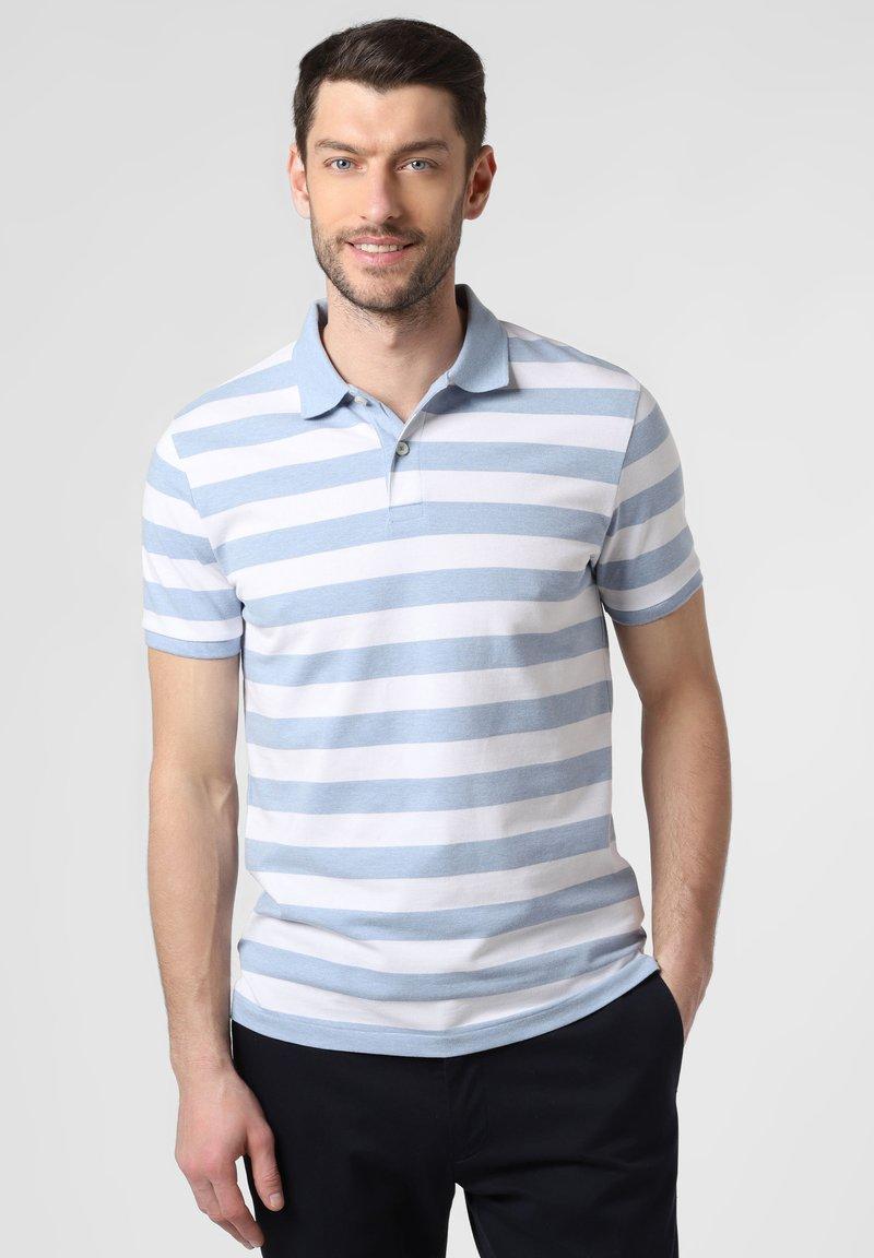 Nils Sundström - Polo shirt - light blue/white
