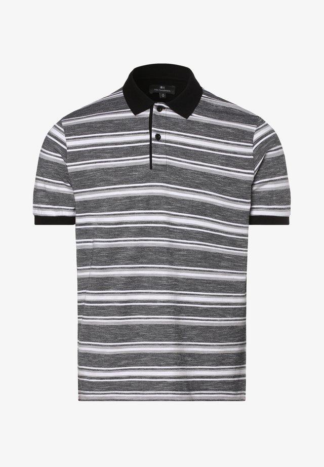 Polo shirt - schwarz/weiß