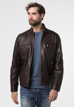 Leather jacket - schoko