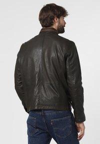 Nils Sundström - Leather jacket - oliv - 2