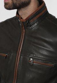 Nils Sundström - Leather jacket - oliv - 3