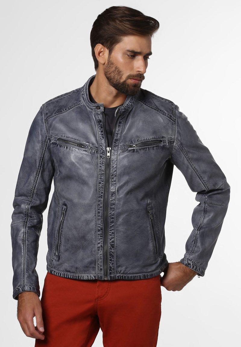 Nils Sundström - Leather jacket - grau