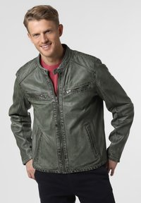 Nils Sundström - Leather jacket - grün - 0
