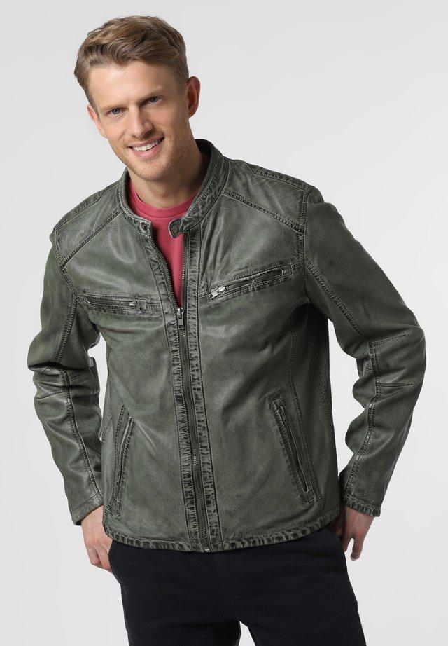 Leather jacket - grün