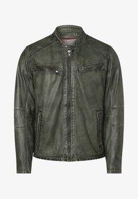 Nils Sundström - Leather jacket - grün - 3