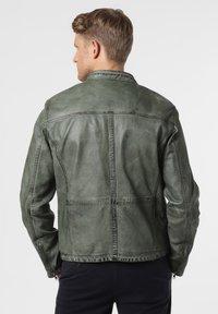Nils Sundström - Leather jacket - grün - 1
