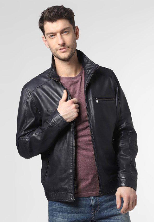 Leather jacket - marine