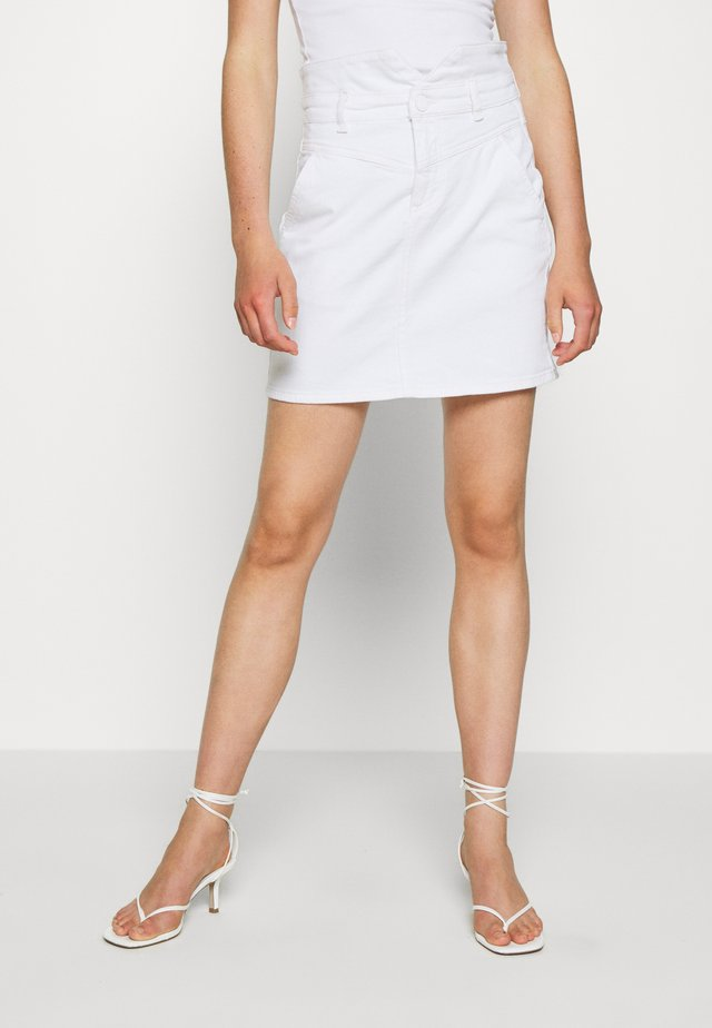 CELLY SKIRT - A-line skjørt - off white