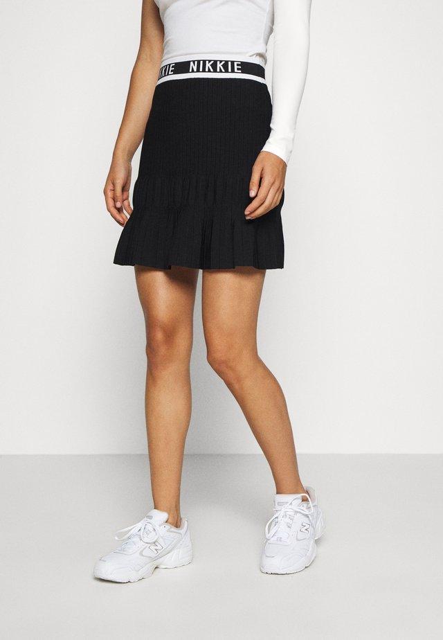 JANNE SKIRT - A-snit nederdel/ A-formede nederdele - black