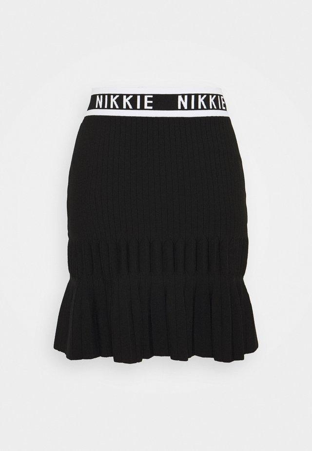 JANNE SKIRT - Mini skirt - black