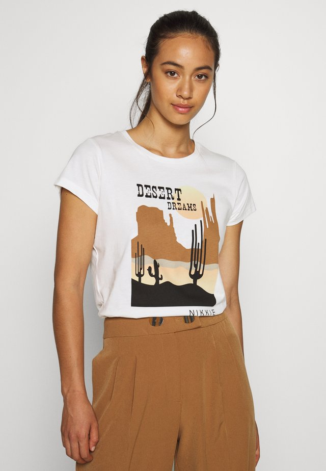 DESERT - T-shirt imprimé - off white