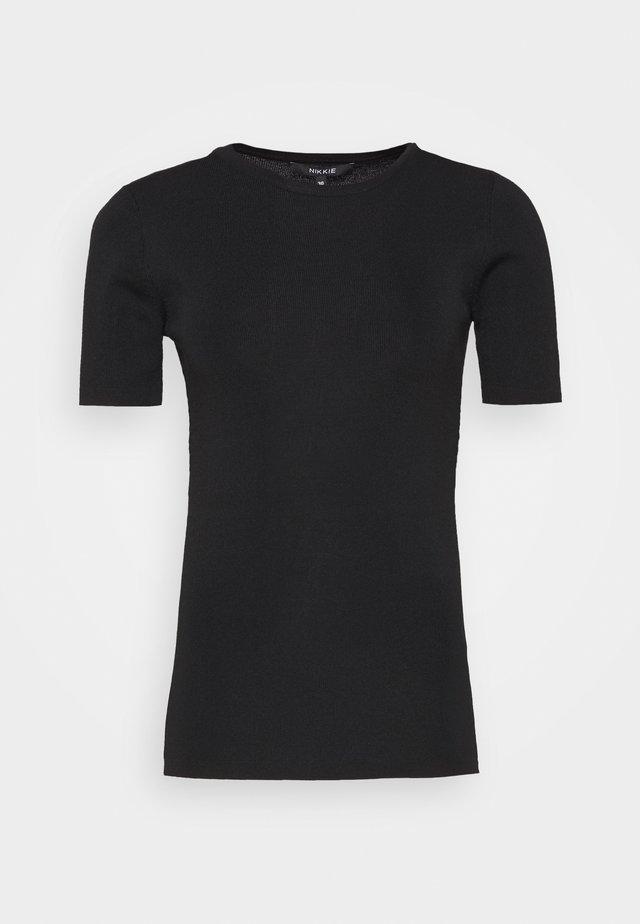 JOLIE - T-shirt imprimé - black