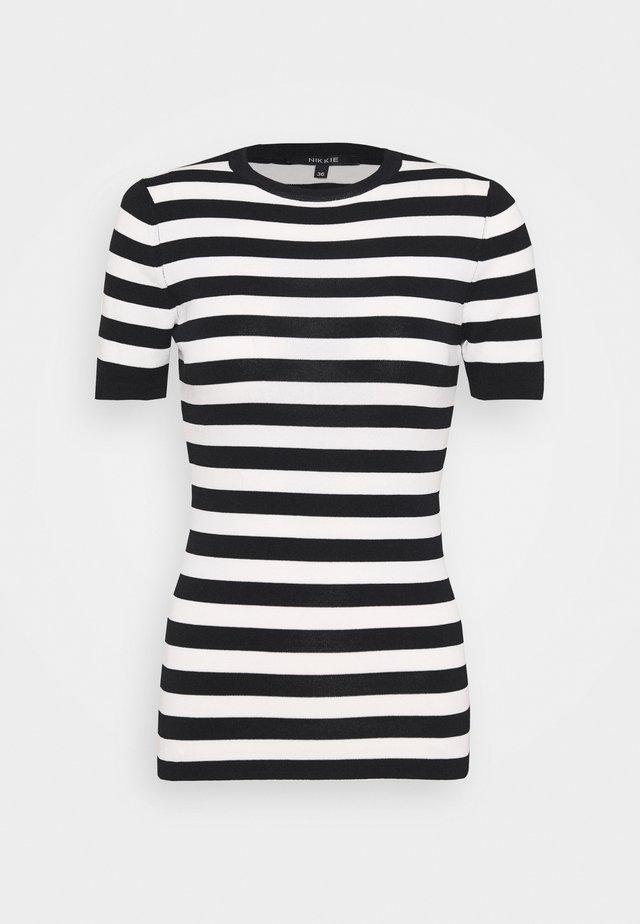 JOLIE - T-shirt imprimé - black/offwhite