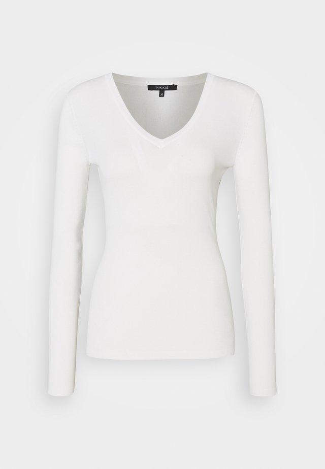 JOLIE VNECK - Pitkähihainen paita - off white