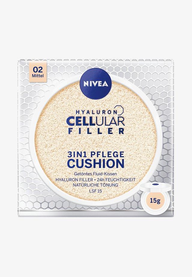 HYALURON CELLULAR FILLER 3 IN 1 CARE CUSHION - Lotion visage - medium 02