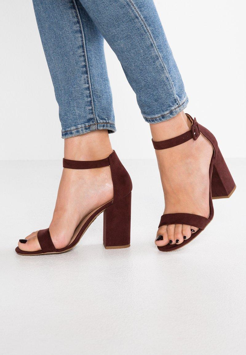 New Look - RICHES - High Heel Sandalette - dark red